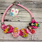 Princess Pink - Button Fusion Necklace - Jewellery - Earrings - polymer