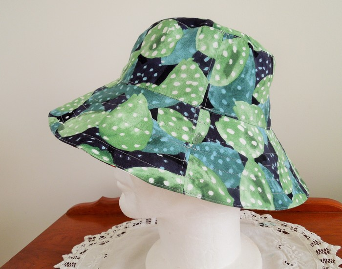 7ee3e824f4929 Ladies Bucket Hat - Sunflowers and Cactus. Reversible. Med size ...