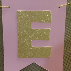 Gold Glitter Birthday Boy Girl Custom Made ONE Banner High Chair