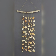 Seashell, Driftwood Wind Chime/ Wall Hanging