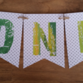 Cactus ONE High Chair 1st First Birthday Custom Made Bunting