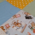 Baby Quilt - Little Mice / Hearts
