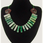 Fashion Hand-crockheted Tribal Necklace with Natural Australian Gemstones.