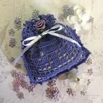 Purple Hand Crocheted Lavender Bag