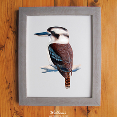 Kookaburra bird print of watercolour painting A4