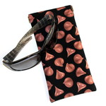 Padded Sunglasses Pouch in Yummy Chocolate Chip Fabric