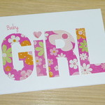 Baby Girl card- floral
