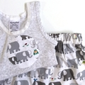 "Sizes New Born to 3 Months & 3 to 6 Mths ""Elephant Patrol"" Harem Pants & Singlet"
