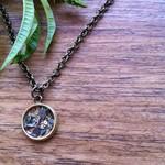 Dainty steampunk pendant