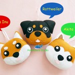 Dog Tooth Fairy Pillow / Dog Ornament / Akita Inu / Rottweiler
