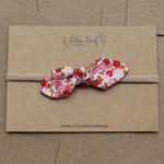 Red Floral Fabric Bow