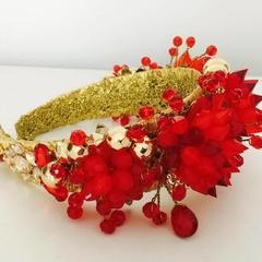 Fire Red Crystal headband
