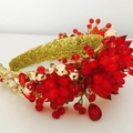 Fire Red Crystal headband