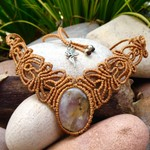 Tree Agate Macrame Necklace