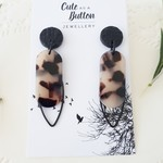 Tortoiseshell Black Dangle Earrings