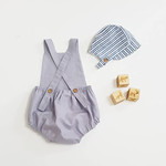 Classic Romper in Grey Linen. Your choice of size