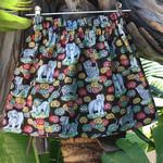Lil Girls/Paperbag/ High Waisted Skirt Sz 4, Snow Leopards n Elephants/Oriental