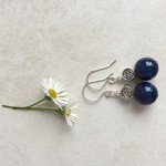 Lapis Lazuli & Tibetan Bead Earrings