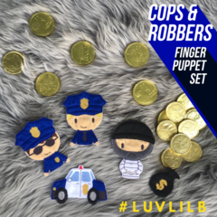 Cops and Robbers Finger Puppet Set