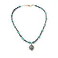 Nepal Lapis Lazuli, Turquoise and Gold Necklace