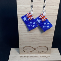 Australian Flag Beaded Earrings