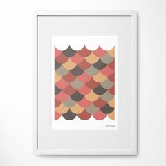Scallop Giclee Art Print - A4, Limited Edition, fine art print,