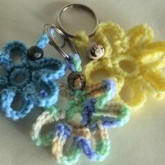 Set of 3 Crochet Flower Keyrings