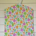 Fabric Peg Bag - Spots, Flowers & Yellow Chevron Stripes