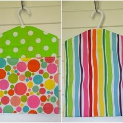 Fabric Peg Bag - Lime Spots & Rainbow Stripes