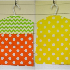 Fabric Peg Bag - Lemon, Lime & Orange Spots & Chevrons