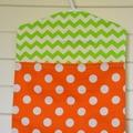 Fabric Peg Bag - Lemon, Lime & Orange Spots & Chevrons