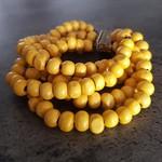 Women's Beaded Bracelet - mustard yellow  FREE POSTAGE