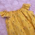 Mustard Flower Baby Romper Size 00