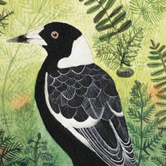 Magpie Art Print 8x10 Active