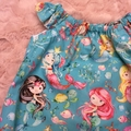 Mermaids Baby Romper Aqua Girl Size 00