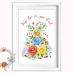 Keep Love in your Heart Printable