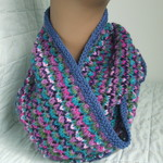 Pure Wool Infinity Loop Scarf, Lilac, Teal, Pink, Lacy, Gift for Her