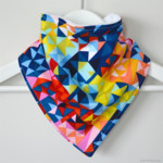 BUY 3 GET 4th FREE Geometric Prisms Bandana Dribble Bib