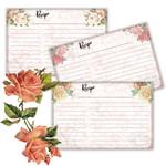 Vintage Rose Recipe Cards Printable