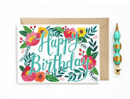 Happy Birthday Garden Card