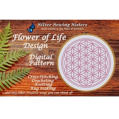 Flower Of Life Outline~Cross Stitching, Knitting, Crocheting, Rug Making SE40015