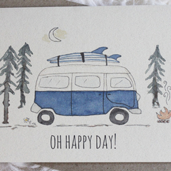 Oh Happy Day - Recycled Paper Greeting Card
