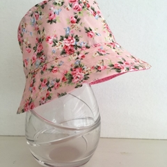Babies summer hat in sweet floral fabric