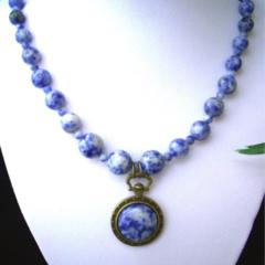 Genuine Blue-White SODALITE Necklace and Pendant.