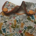 Girl's Wrap Apron/Smock, Jungle Print. Size: 2 Years.