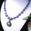Genuine Blue-White SODALITE Necklace and Pendant.