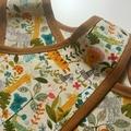 Girl's Wrap Apron/Smock, Jungle Print. Size: 3 Years.