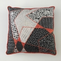 Quilted Cushion in Black & White