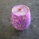 lavender wood wick candle large