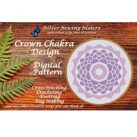 Crown Chakra Pattern ~ Cross Stitching, Knitting, Crocheting, Rug Making SE40007